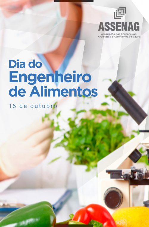 DIA 16 DE OUTUBRO – DIA DO ENGENHEIRO DE ALIMENTOS